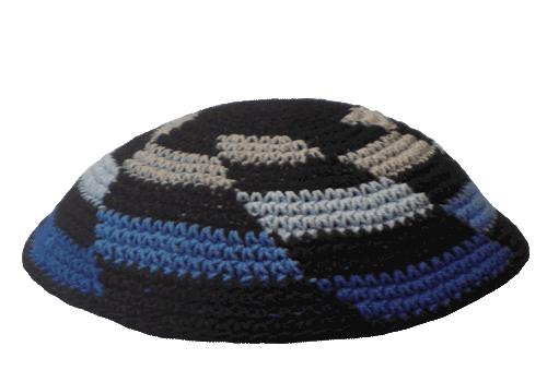 Black Crochet Kippah with Allover Pattern | Bar Mitzvah | Pinterest