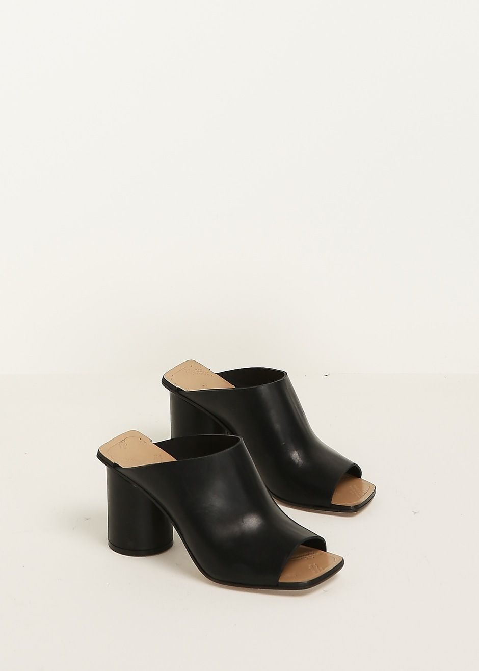 Maison Margiela Leather Square-Toe Mules buy cheap geniue stockist buy cheap with mastercard qm1iVLkmHE