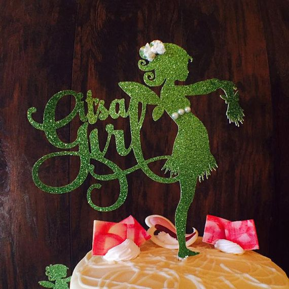 Its A Girl Cake Topper - Pregnant Fairy - Fairy Cake Topper - Fairy Baby Shower - Baby Shower Decorations - Custom - It's A Girl Fairy Party