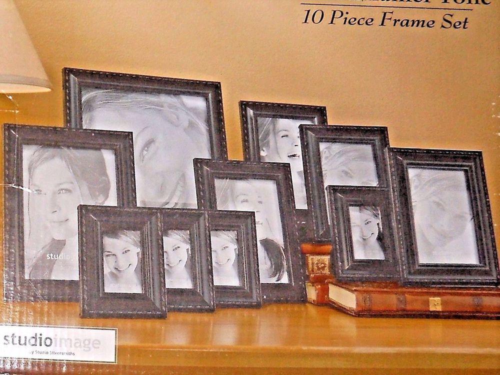 Studio Image By Studio Silversmith 10 Pc Frame Set Black Studiosilversmith Frame Set Frame Black Photo Frames