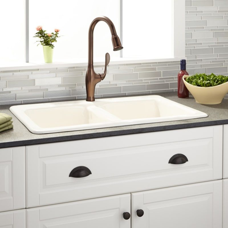 Signature Hardware 934515 34 1 Gostyn 34 Drop In Double Basin