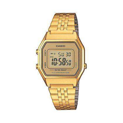 Casio Collection Retro La680wega 9er Casio Gold Retro Uhren Damenuhr
