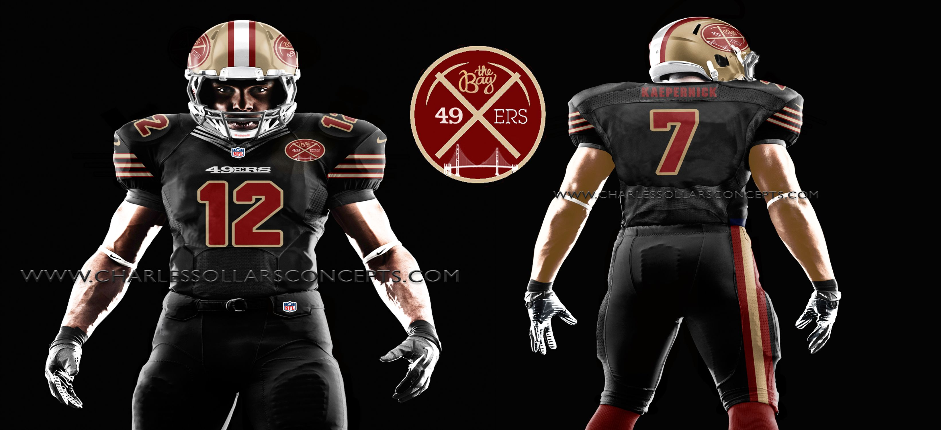save off 09907 093db What The #Niners Black Uniform Could Have Looked Like If ...