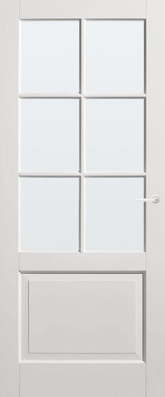 Panel Door Rest with clear glass | Rural | stock | Bruynzeel Doors