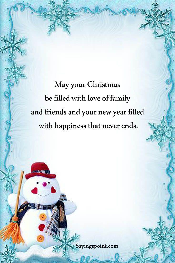 Christmas Card Sayings #sayings #quotes #christmassayings #christmas ...