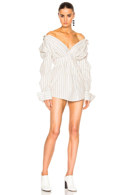 432ea79a0bc JACQUEMUS Shirt Dress in Blue & Off White. #jacquemus #cloth ...