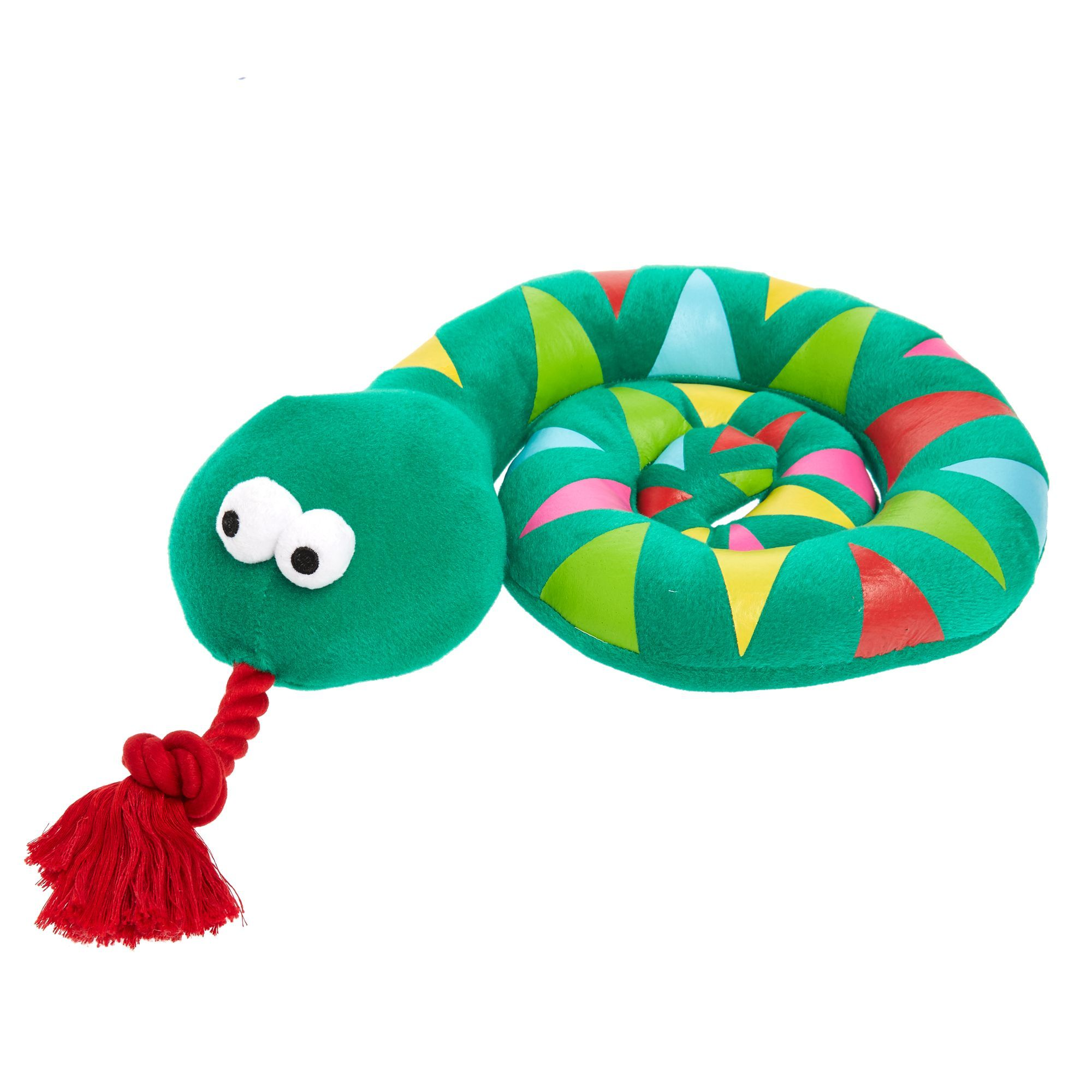 Top Paw Holy Guacamole Snake Rope Dog Toy Plush Squeaker Rope