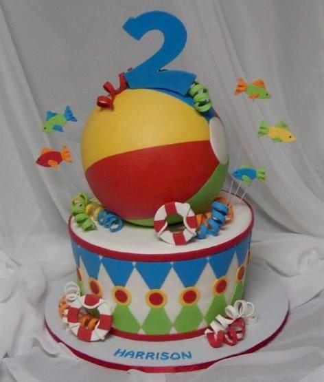 Incredible Beach Ball Birthday Cake Beach Ball Birthday Birthday Cakes For Birthday Cards Printable Benkemecafe Filternl