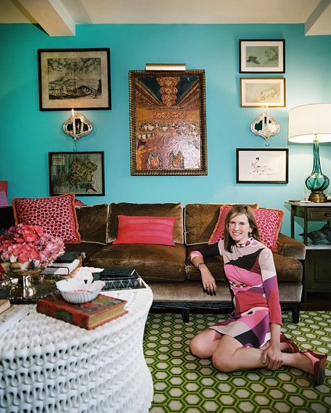 Bohemian Living Room Photo   Angele Parlange In Her Manhattan Apartment