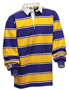 Purple White Gold Soho Stripes