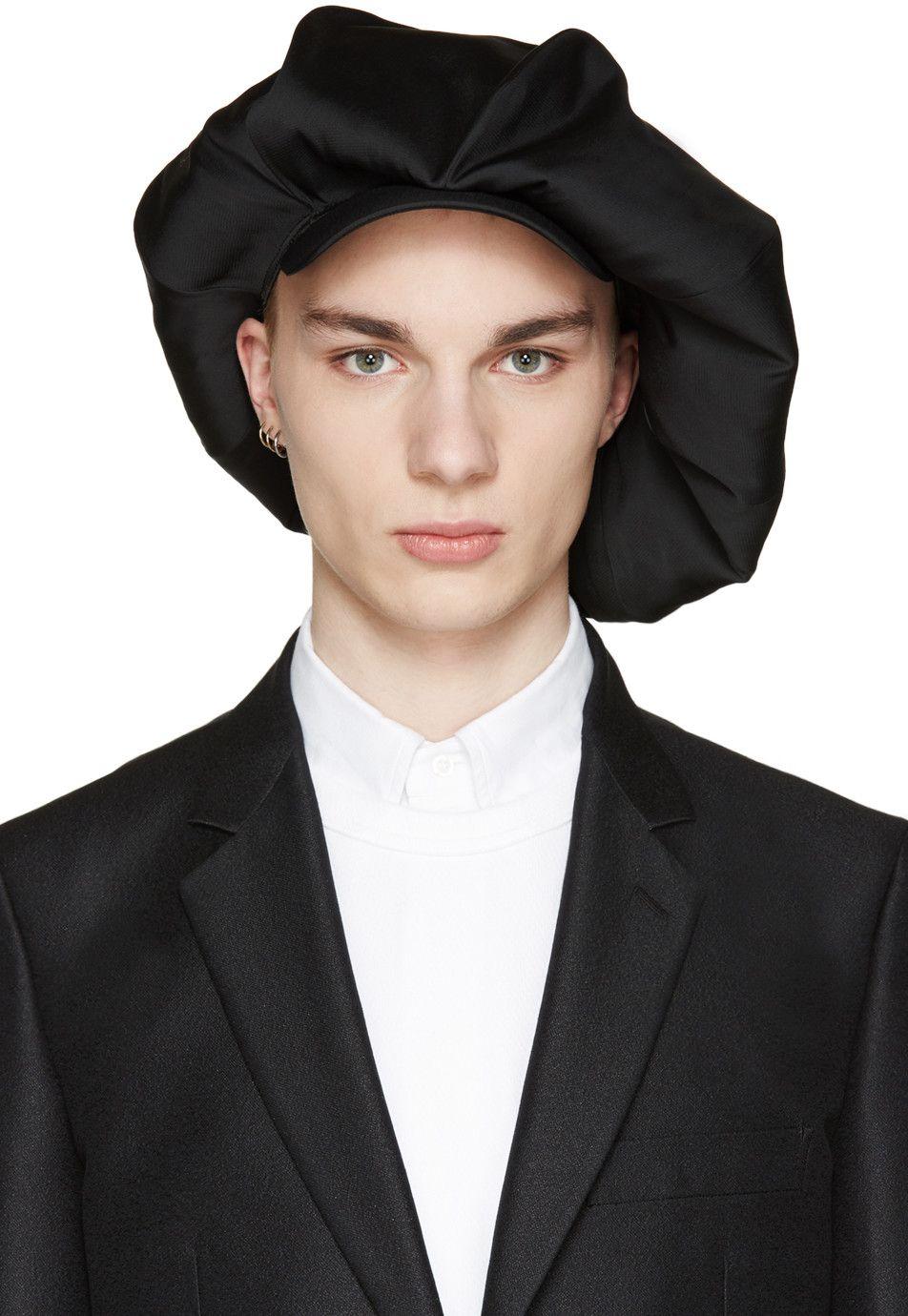 429cab30 Comme des Garçons Homme Plus - Black Oversized Newsboy Cap   Fashion ...