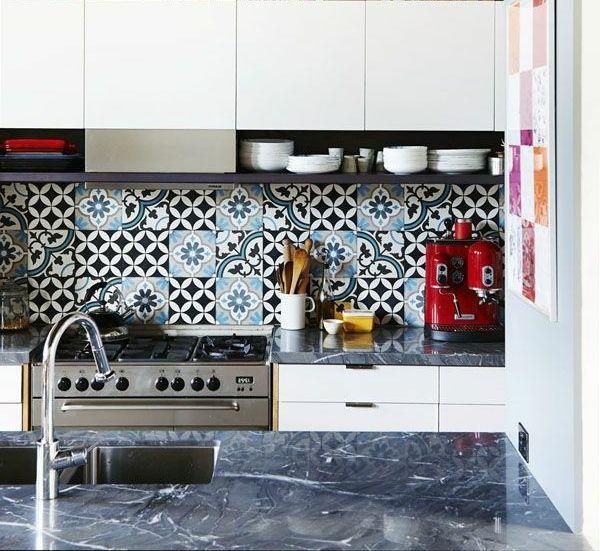 55 idées pour poser du carrelage mural chez soi Patchwork tiles - comment poser un evier de cuisine