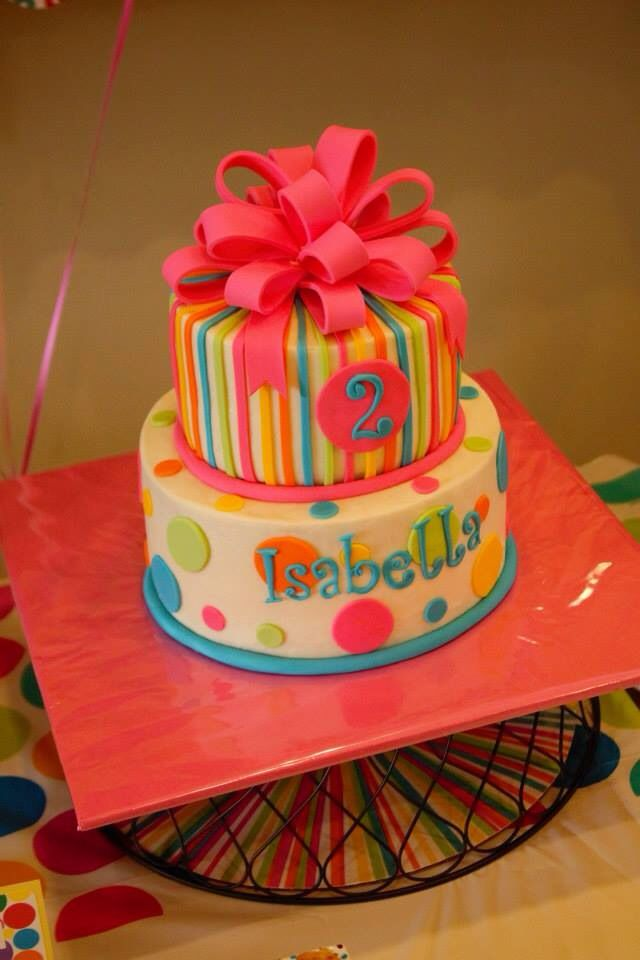 Rainbow Polka Dot birthday Birthday cakes Pinterest Birthdays