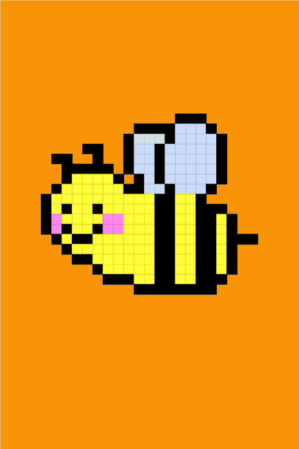 Easy Pixel Art Honey Bee Pixel Art Facile Abeille