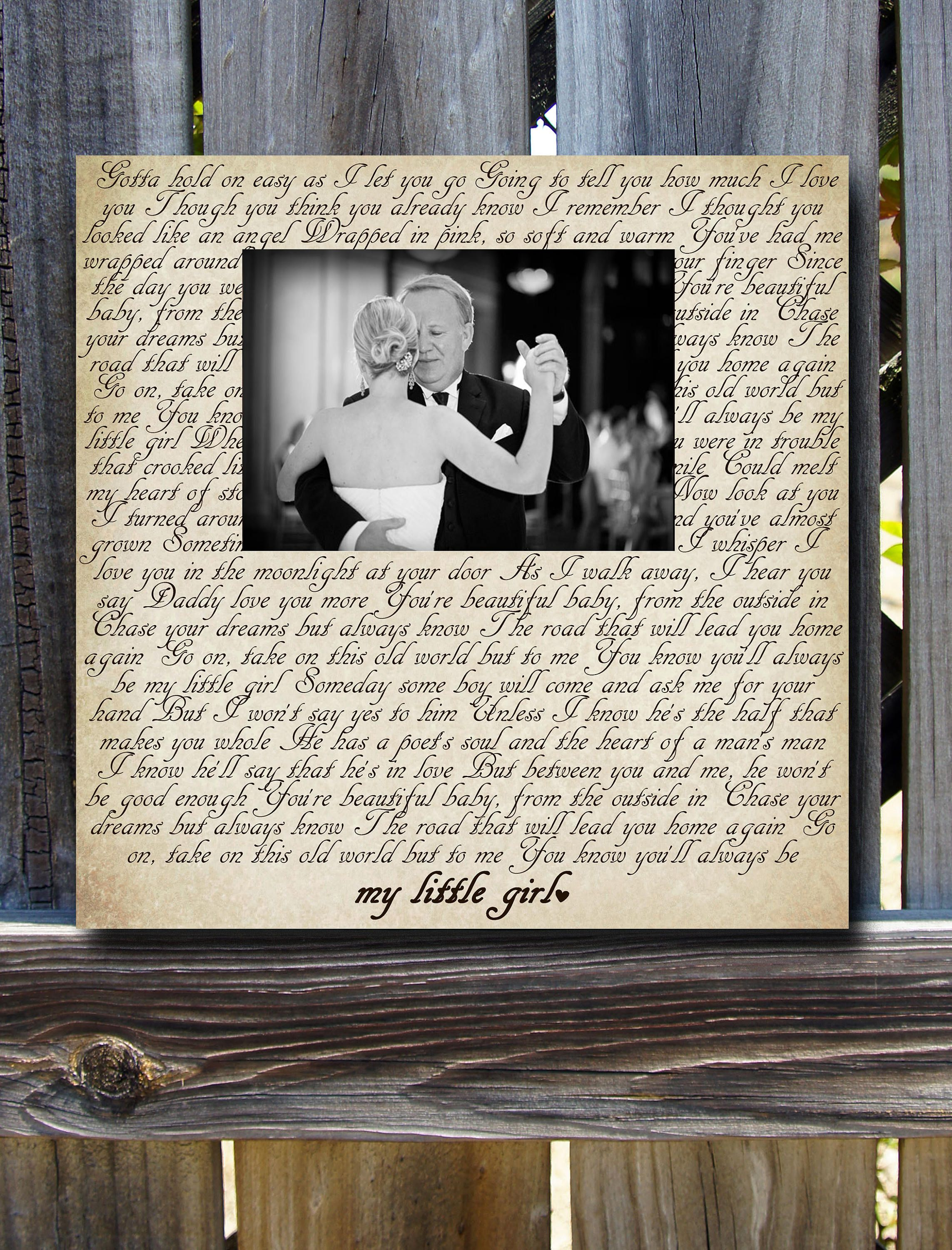 Any Wording, Song Lyrics, Quote, or Poem you choose, Picture Frame ...