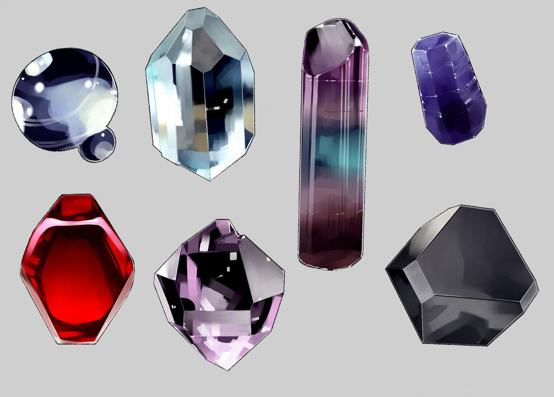 guide to drawing gems (click through for individual steps)