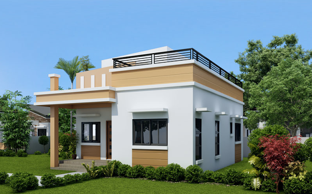 One Storey House With Roof Deck One Storey House Bungalow House Design Two Storey House