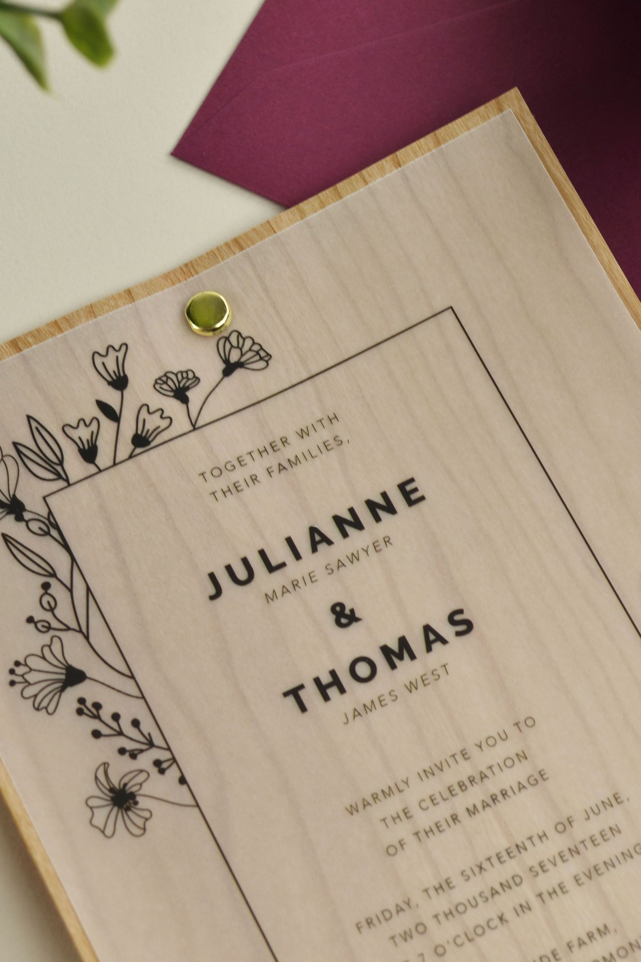 Vellum is making a comeback! Using this semi-transparent paper will give your DIY wedding invitations a beautifully light and airy look. It's budget friendly and easy to print on with most home printers. Pair vellum with additional paper… . .