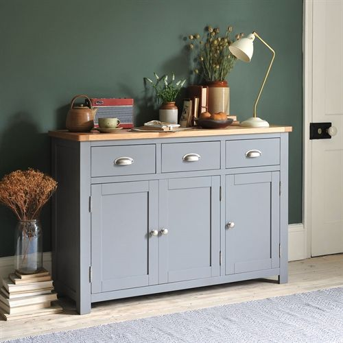 Living Rooms · Florence Grey Large Sideboard From The Cotswold Company.  Painted Sideboard, Bedroom Storage, Grey