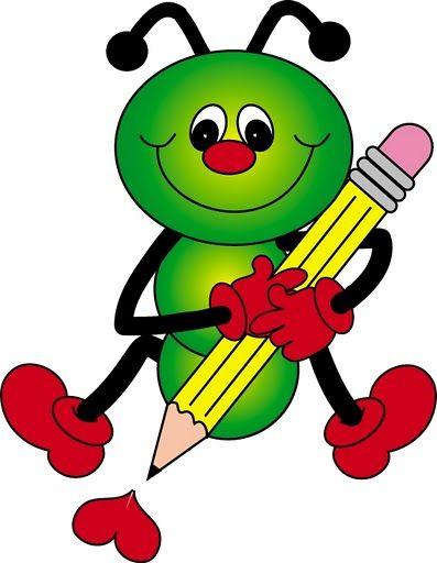 Caterpillar With Pencil Clip Art Dibujos Bonitos Pinturas De