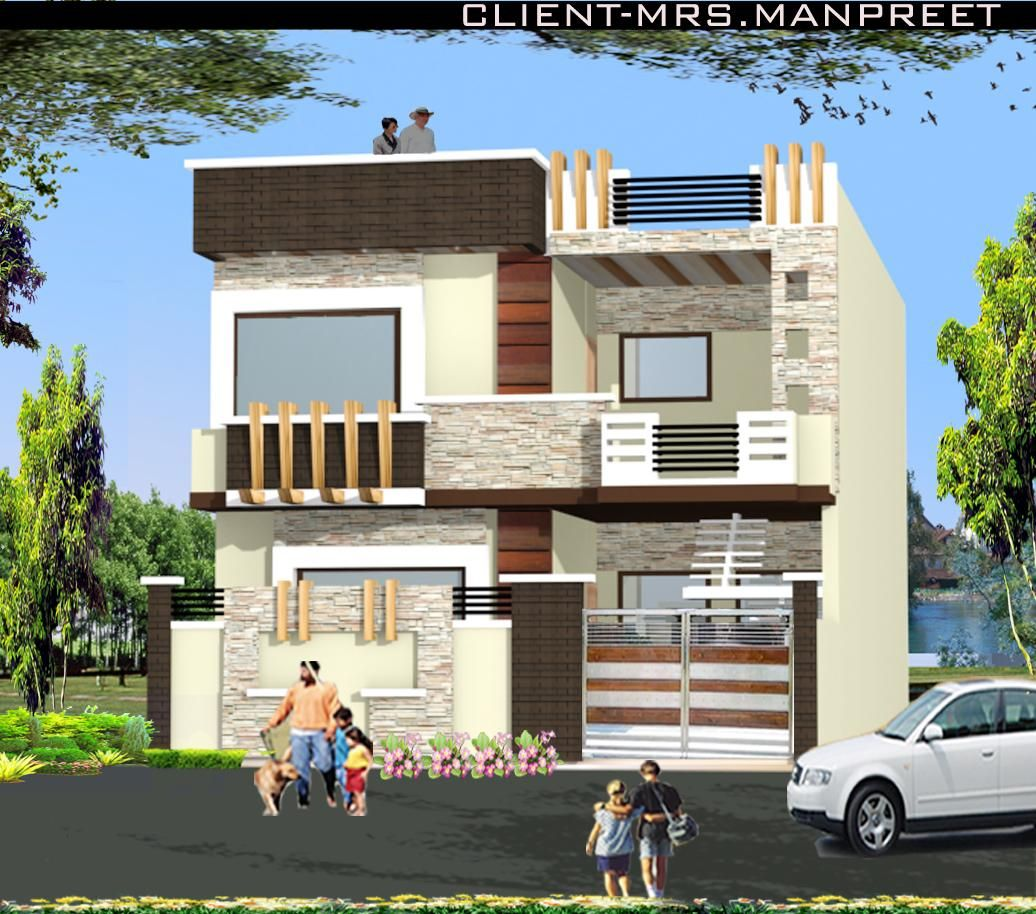 Indian Home Exterior Design Pictures: House Front Parapet Wall Designs