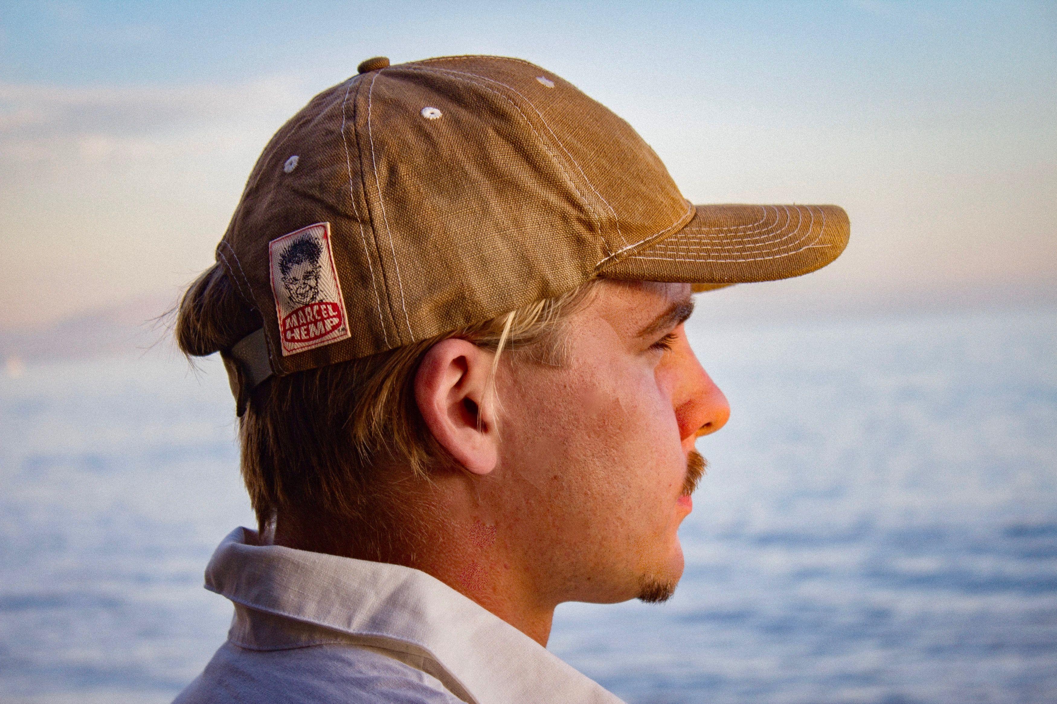 This is our 100% hemp canvas tan dyed baseball cap. All of our fair ... 04ec53bf387