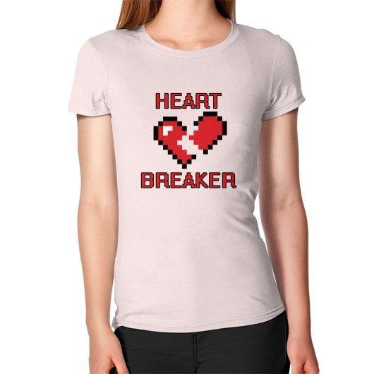 8-Bit Heart Breaker Open T-Shirt - Women's