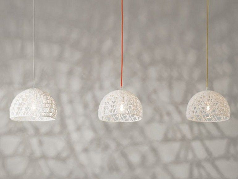Download the catalogue and request prices of wool pendant lamp Trama 2, Trame collection to manufacturer In-es.artdesign