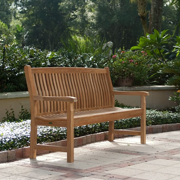 5 Ft Veranda Teak Bench Westminster Teak Teak Outdoor Furniture Teak Furniture Teak Bench