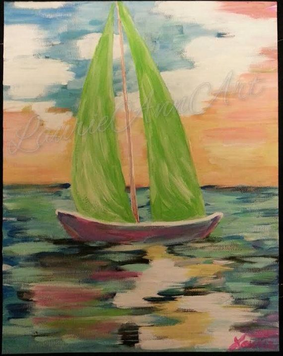 Sailing Away by LaurieAnnArt on Etsy