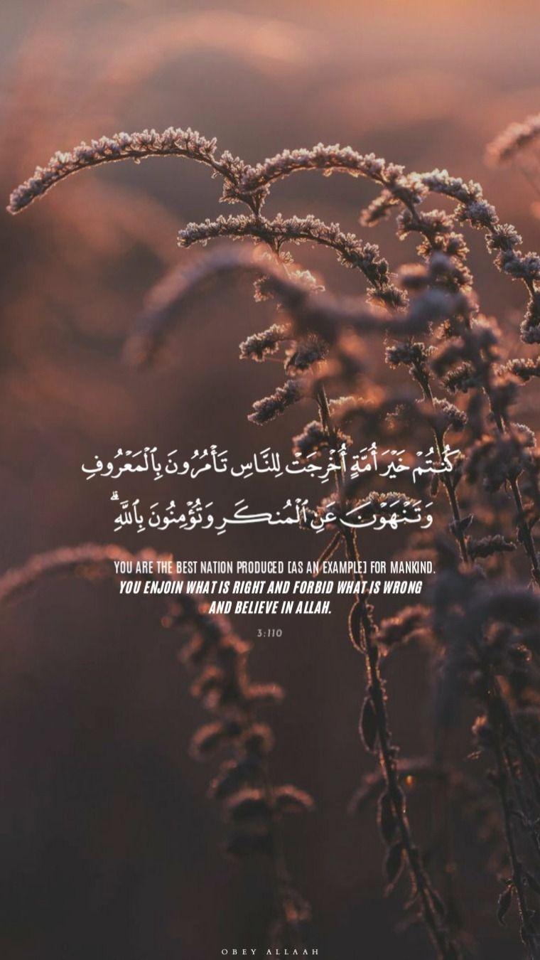 Qur An 3 110 Quran Quotes Love Quran Quotes Verses Islamic Quotes Quran