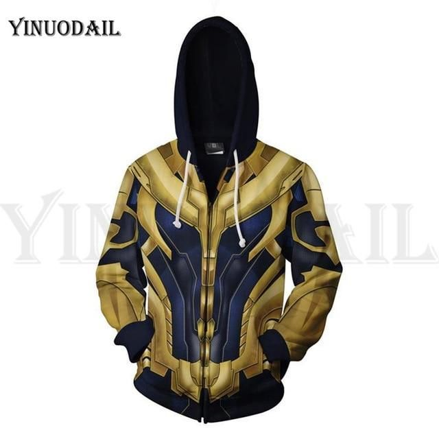 Avengers Endgame Captain America Superhero Cosplay Costume Zipper SweatshirtCoat