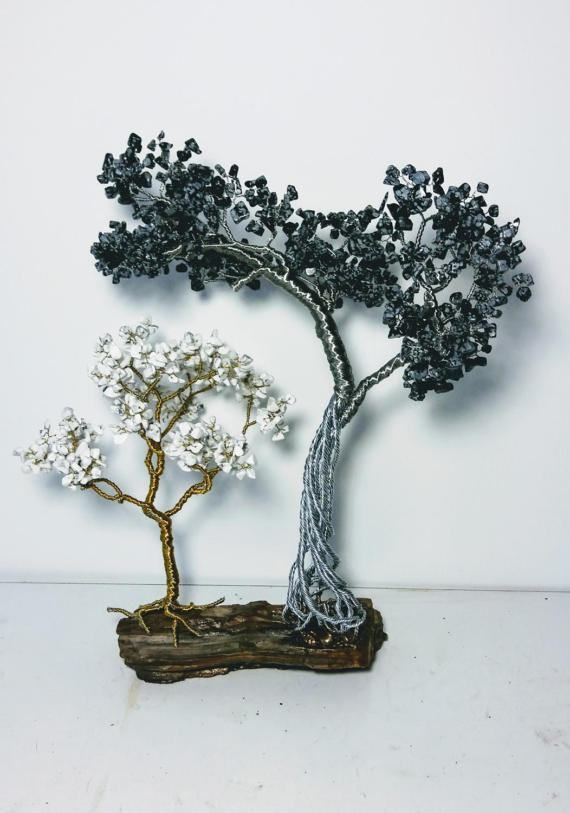 Two trees with the stones gemstone design tree of от StoneTreeHM