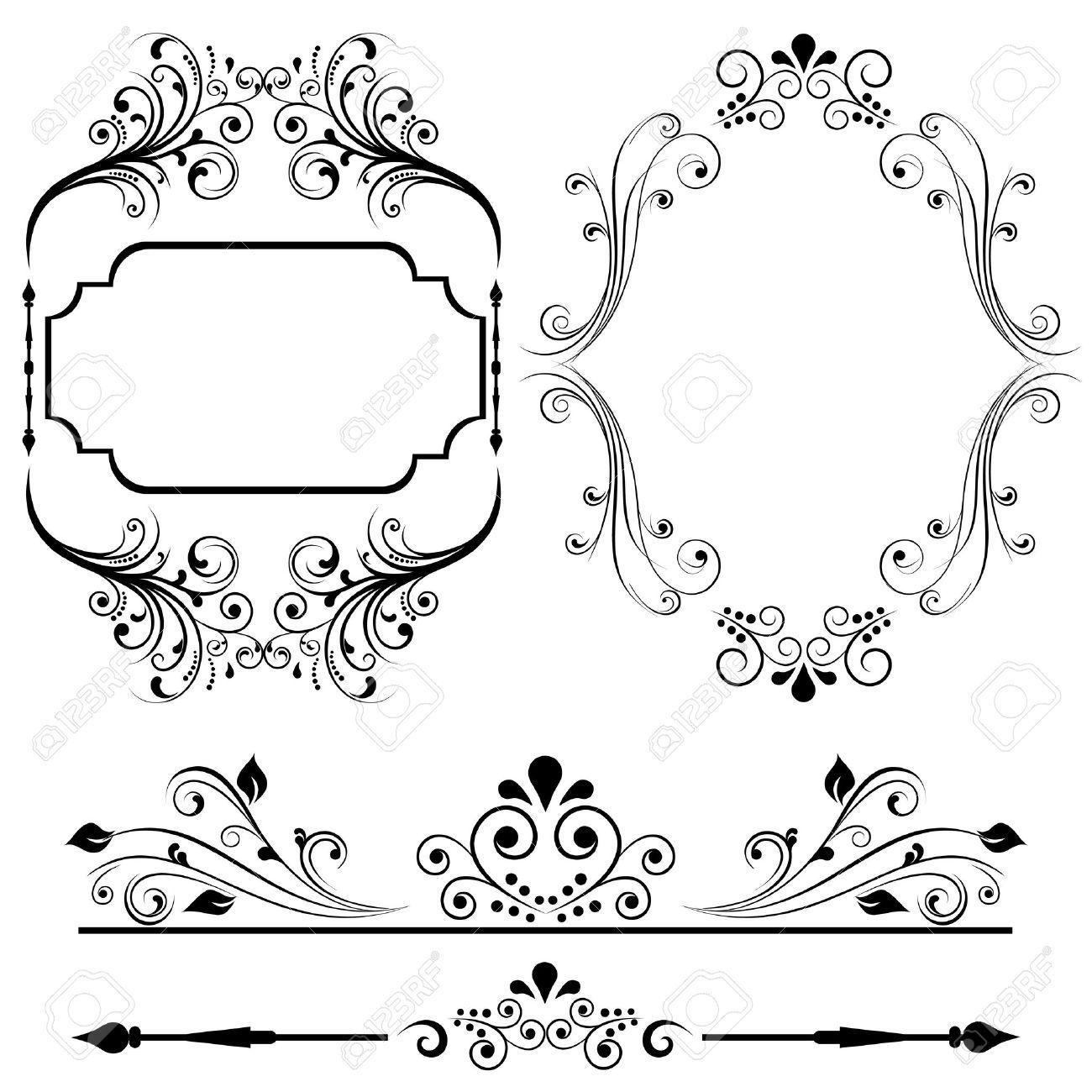 Border And Frame Designs For Cards Or Invitations Royalty Free ...