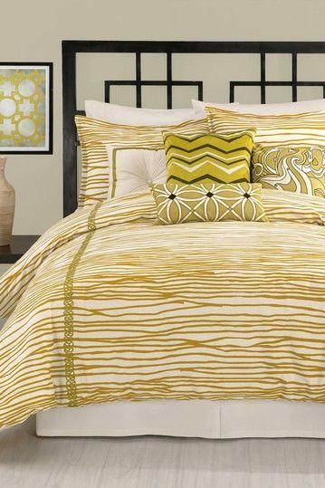 Vintage Stripe 3Piece Comforter Set  Queen on HauteLook