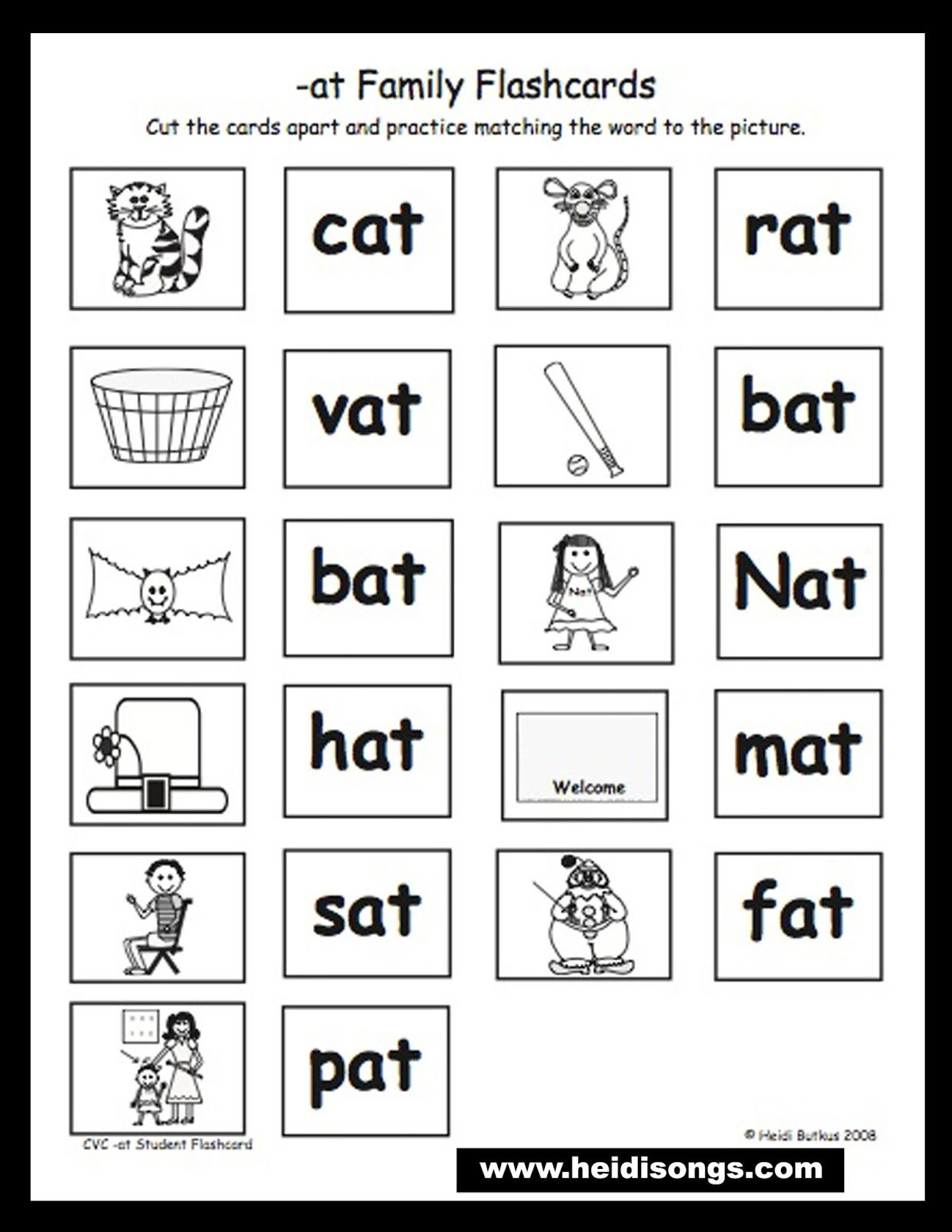Homework Binders for PreK Kindergarten First Grade – Word Family Worksheets Kindergarten