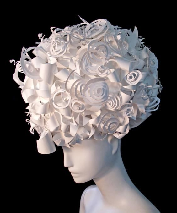 Amy Flurry and Nikki Salk - Curly Wig, 2011. Photographed by Greg Lotus of the exclusive Paper-Cut-Project collection for Italian Vogue.