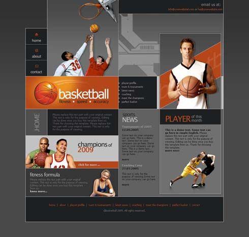 Basketball Sports Website Design Website Design News Web Design Sports Design