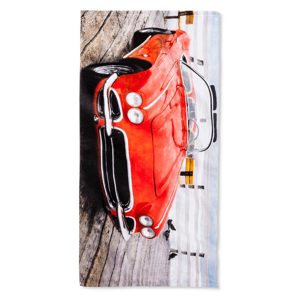 Corvette Vintage '64 Beach Towel Red Beach towel