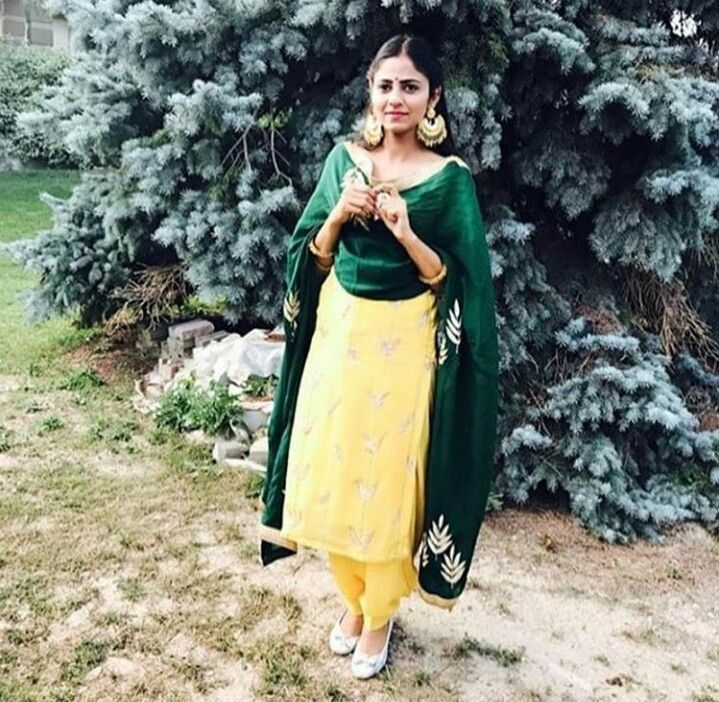 colour contrast punjabi suits | punjabi suits | Pinterest