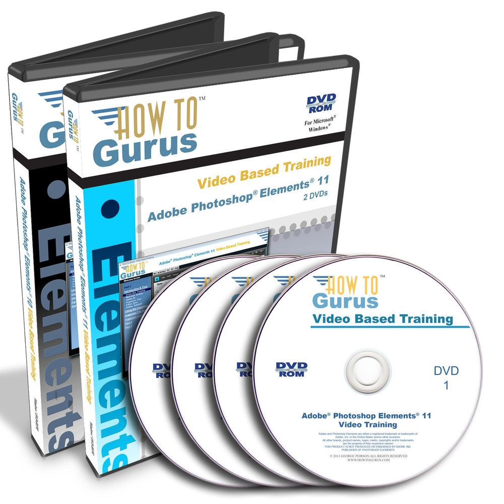 New adobe photoshop elements 11 and pse 10 tutorial training on 4 new adobe photoshop elements 11 and pse 10 tutorial training on 4 dvds 31 hours baditri Choice Image