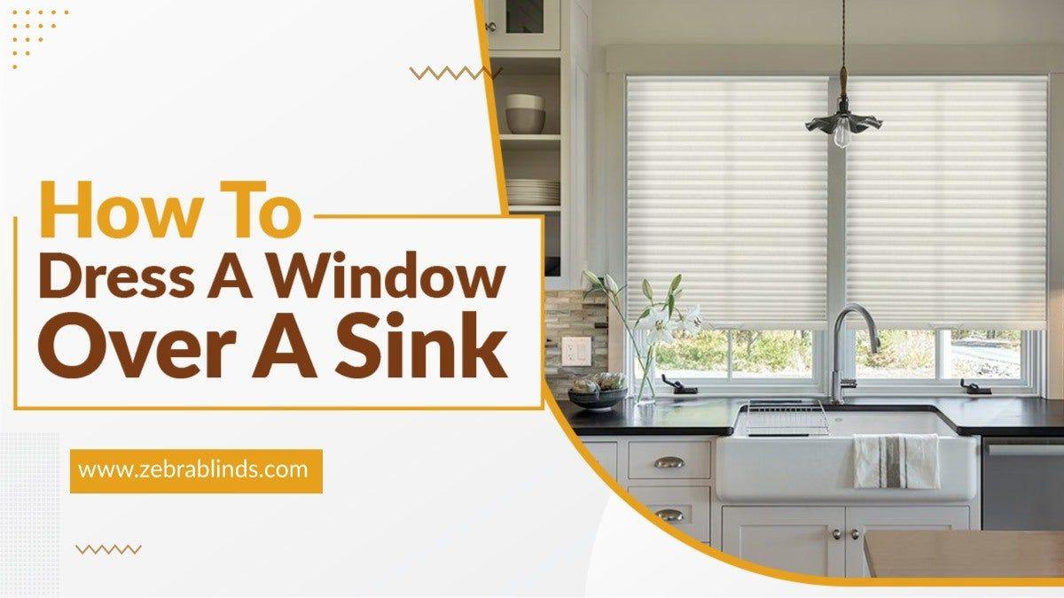 How To Dress A Window Over A Sink Kitchen Sink Window Kitchen Plans Custom Window Coverings