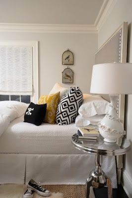 a perfect gray: gray touches in the bedroom