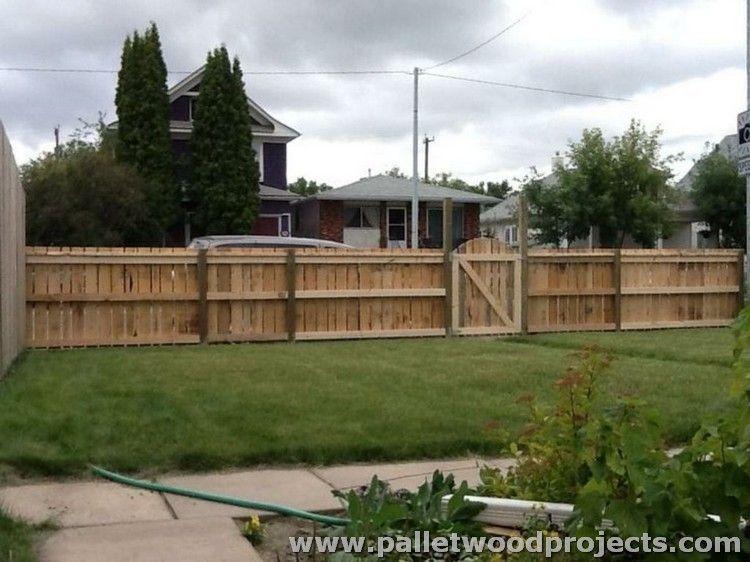 Recycled Pallet Fence Plans Valla, Palets y Pastelería - cercas para jardin