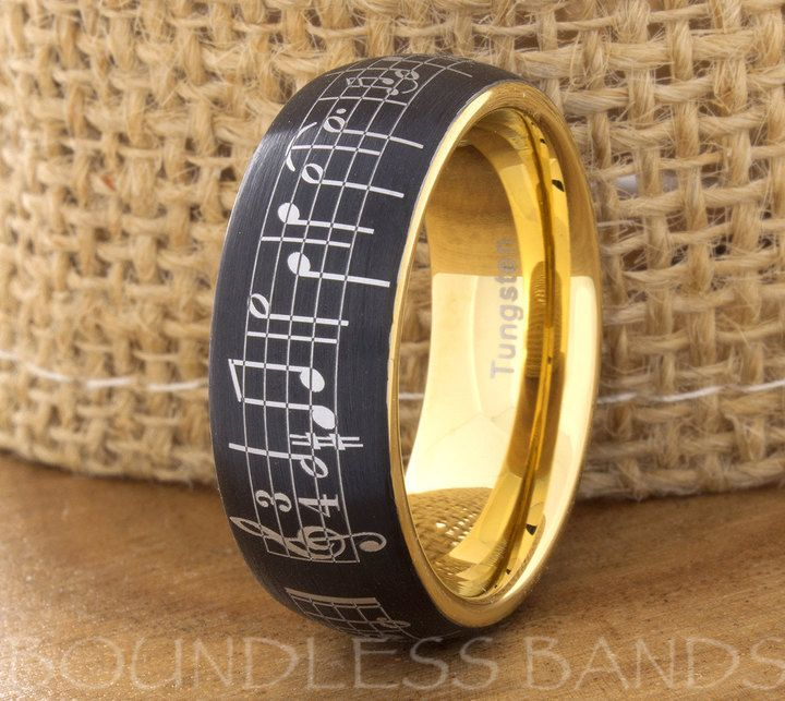 Black Tungsten Wedding Ring Mens Womens Wedding Bands Promise