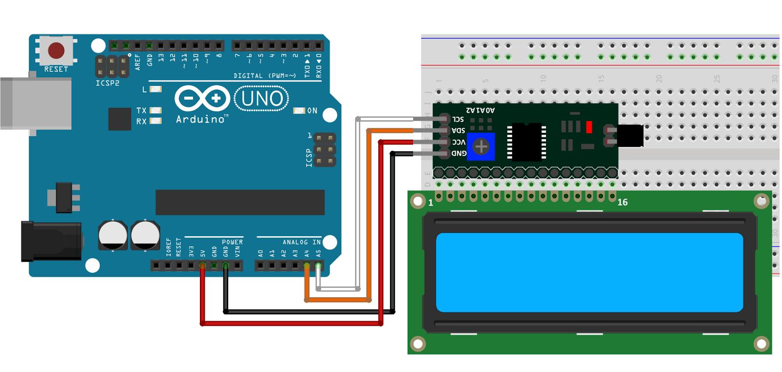 Arduino display lcd 16x2 i2c schema | Arduino display, Arduino lcd, Arduino
