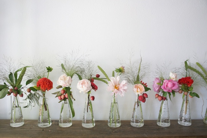 Row Of Flowers Flower Centerpieces Wedding Small Vases With Flowers Wedding Vases