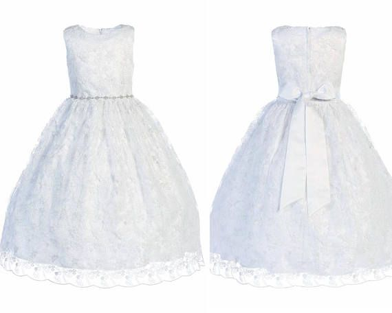 Dress First Communion Girl In Lace
