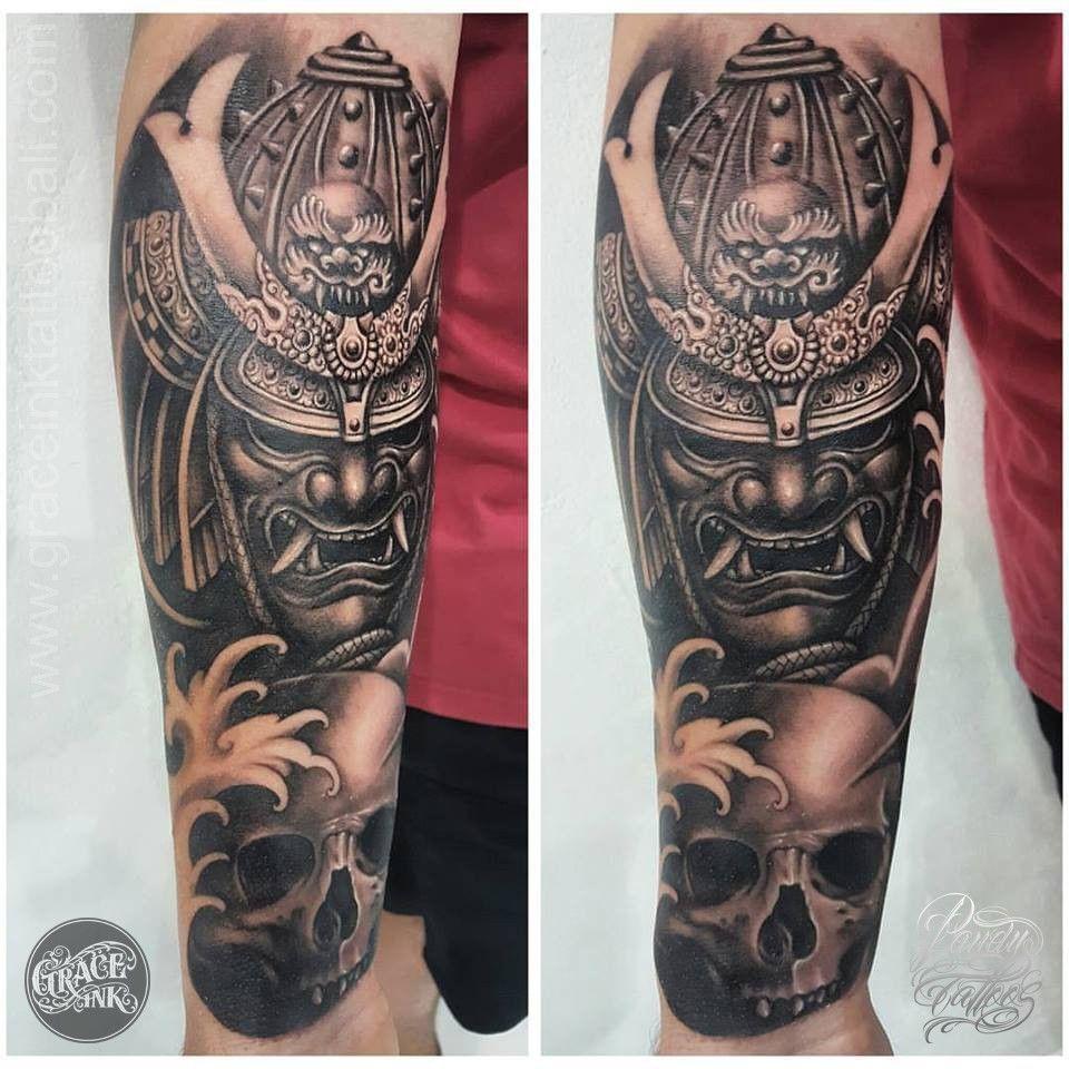 Japanese Warrior Tattoo Japanese Warrior Tattoo Samurai Tattoo Samurai Mask Tattoo