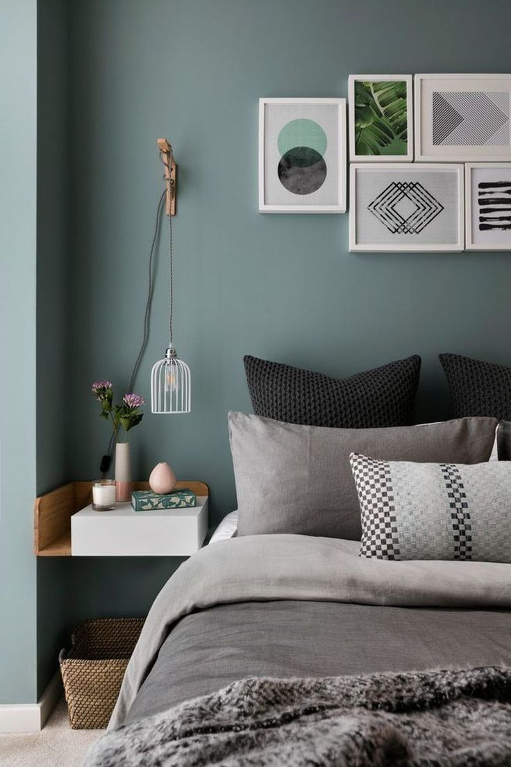 50 Beautiful And Calm Green Bedroom Decoration Ideas - Trendehouse #bedroominspirations